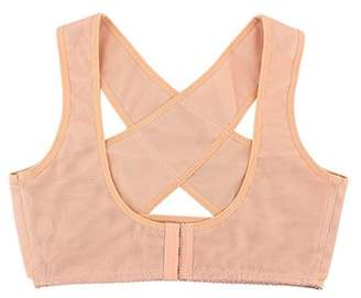 Pureaid Women\'s Posture Corset Bra X Strap Vest Shape Corrector Prevent Chest Hunchback -Nude (L)