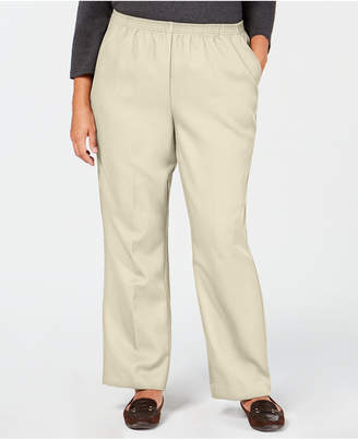 Karen Scott Plus-Size Mid-Rise Pull-On Pants