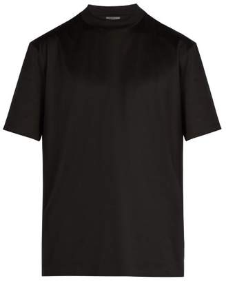 Lanvin Crew Neck Cotton T Shirt - Mens - Black