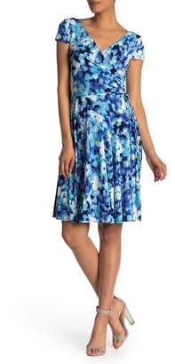 Maggy London Surplice Fit & Flare Dress
