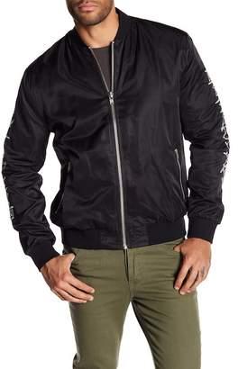nANA jUDY Embroidered Sleeve Bomber Jacket