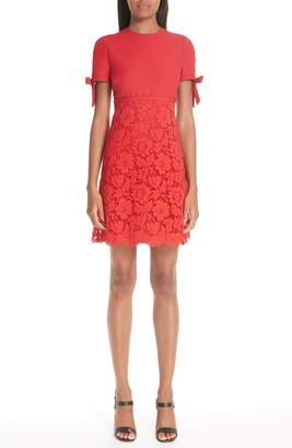 Valentino Bow Detail Lace Dress