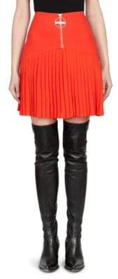 Givenchy Heavy Wool Crepe Mini Skirt