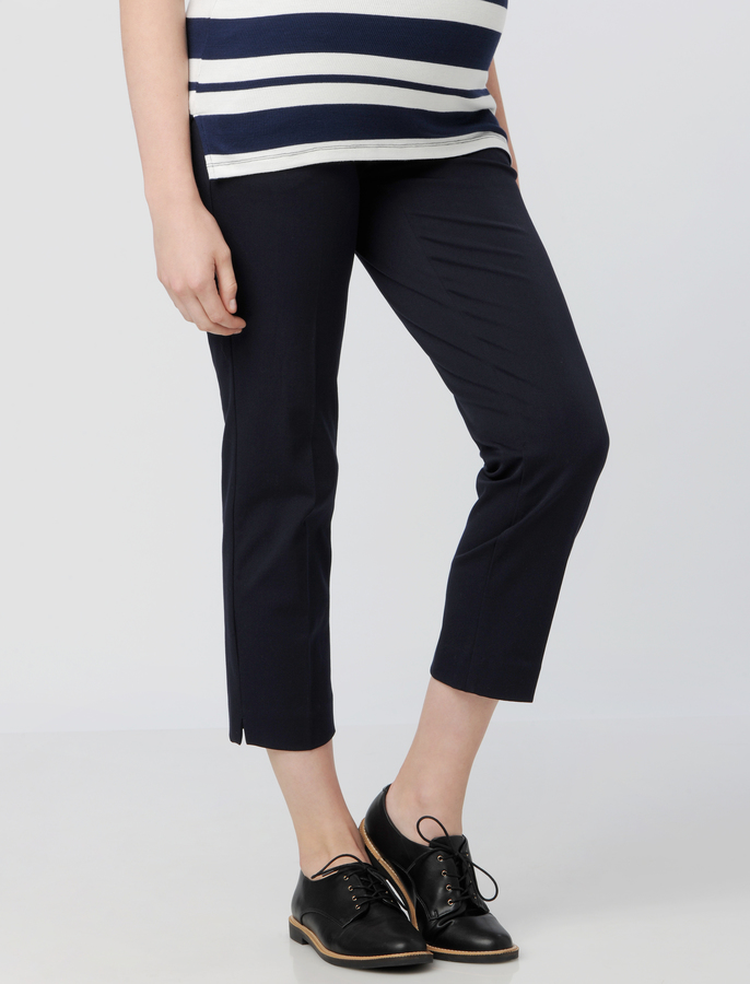 A Pea In The Pod Secret Fit Belly Twill Slim Straight Maternity Pant