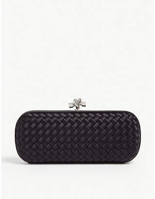 Bottega Veneta Woven satin clutch bag