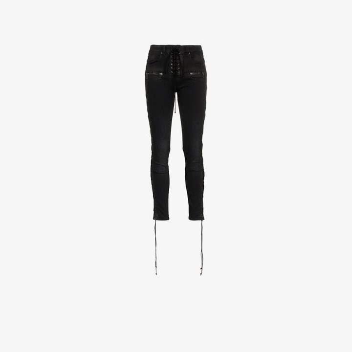 Unravel Project lace up skinny jeans