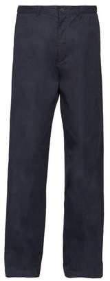 Balenciaga Straight Leg Cotton Chino Trousers - Mens - Navy
