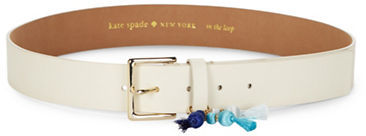 Kate Spade Kate Spade New York Leather Jeweled Tassel Belt
