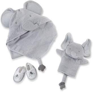 Baby Aspen Little Peanut 4-Piece Elephant Bath Time Gift Set