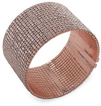 Anne Klein Social Life Crystal Cuff Bracelet