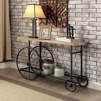 Gracie Oaks Springport Industrial Console Table