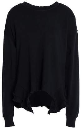 Current/Elliott The Slouchy Frayed Cotton-Terry Top