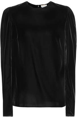 Saint Laurent Velvet top