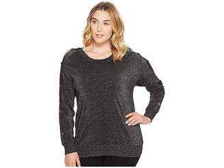 MICHAEL Michael Kors Size Lurex Button Sweater Women's Sweater