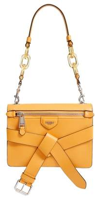 Moschino Belt Leather Shoulder Bag