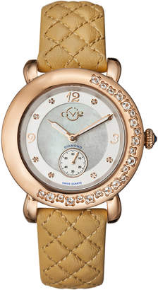 BEIGE Gv2 9893L Marsala Rose Gold-Tone & Diamond Watch