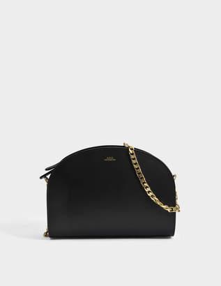 A.P.C. Luna Bag in Black Shiny Calfskin