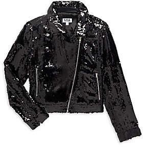 Mia Little Girl's & Girl's Sequin Motorcycle Jacket