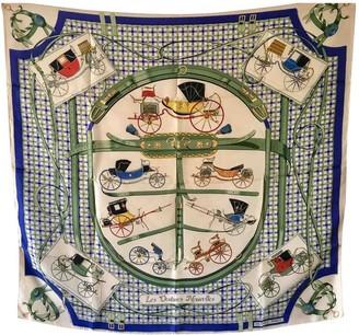 Hermes Carre 90 Beige Silk Silk handkerchief