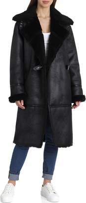 AVEC LES FILLES Faux Shearling Coat