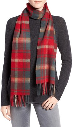 Women's Barbour 'Shilhope' Plaid Wool Scarf $45 thestylecure.com