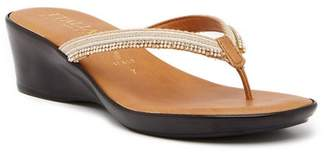 Italian Shoemakers Keely Wedge Thong Sandal
