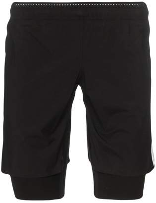 Satisfy double-layer logo label track shorts