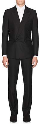 The Row Men's Mark Wool Double-Breasted Tuxedo - Black