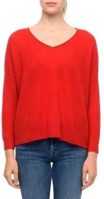 Line Long Sleeve Waffle Sweater