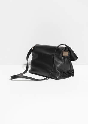 And other stories Fold-Over Leather Crossbody
