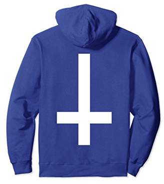 Inverted Cross Dark Hoodie Back