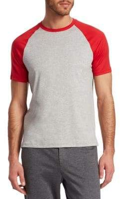 Saks Fifth Avenue MODERN Baseball Raglan-Sleeve Cotton Tee