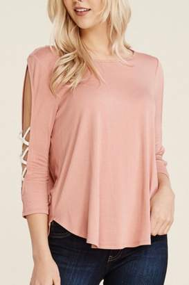 Papermoon Criss-Cross Sleeve Top
