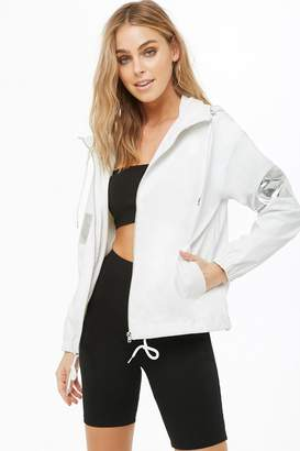 Forever 21 Faux Leather Hooded Jacket