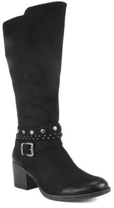 White Mountain Footwear Paulina Buckled Block Heel Boot