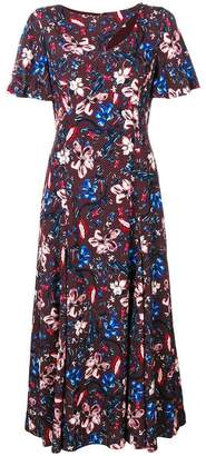 Erdem floral print slash detail dress