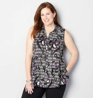 Avenue Button Front Swing Tunic