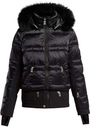 Toni Sailer - Virginie Contrast Panel Quilted Ski Jacket - Womens - Dark Navy