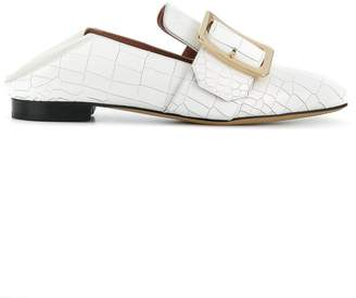 Bally slip-on buckle loafers