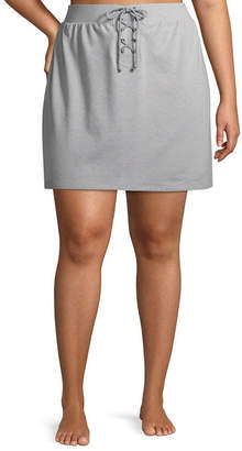 Flirtitude Womens Mid Rise Short Full Skirt-Juniors Plus