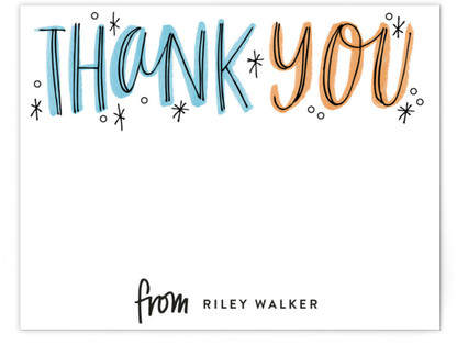 Thank You Outlines Children's Personalized Stationery