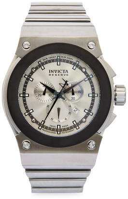 Invicta Mens Silver-Tone Round Chronograph Bracelet Watch