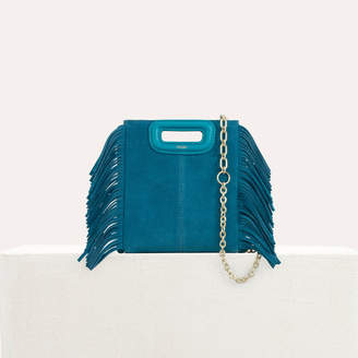 Maje Mini M bag in suede with chain