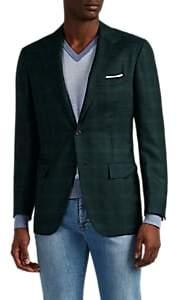 Kiton Men's Plaid Cashmere-Silk Flannel Two-Button Sportcoat - Green