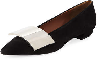 Proenza Schouler Cindy Ballet Flats with Sculpted Buckle