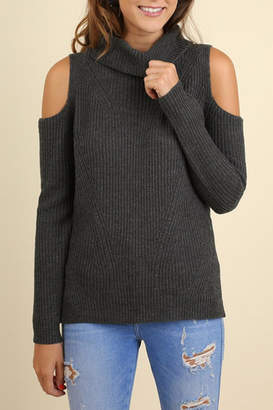 Umgee USA Cold Shoulder Sweater