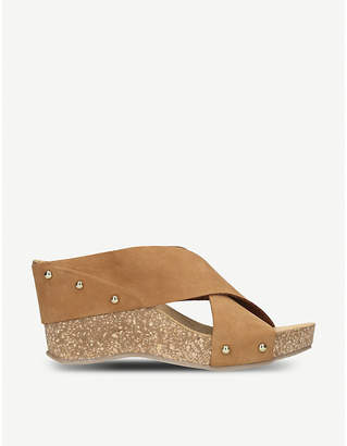 Carvela Comfort Sooty suede and cork wedge sandals