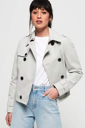 Next Womens Superdry Cropped Azure Trench Coat