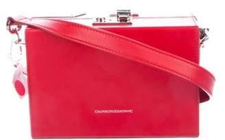 Calvin Klein Mini Box Bag Red Mini Box Bag