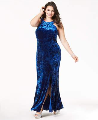 Morgan & Company Trendy Plus Size Velvet Bodycon Gown